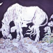 Unicorn Pauses Art Print