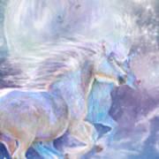 Unicorn Soulmates Art Print