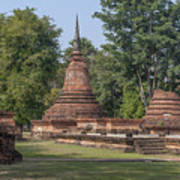 Unidentified Wat Wihan And Chedi Dthst0074 Art Print