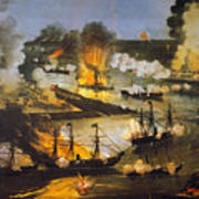 Union Bombardment, 1862 Art Print