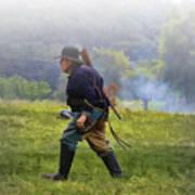 Union Cavalryman On Foot Art Print
