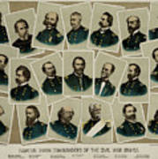 Union Commanders Of The Civil War   Art Print