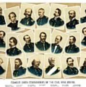 Union Commanders Of The Civil War Art Print