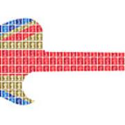 Union Guitar Art Print