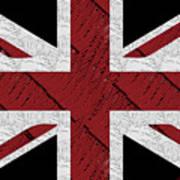 Union Jack Flag Deco Swing Art Print