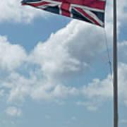 Union Jack Off Land's End Art Print