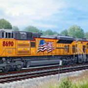 Union Pacific 8690 Art Print by RB McGrath