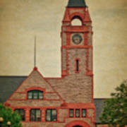 Union Pacific Railroad Depot Cheyenne Wyoming 01 Textured Art Print