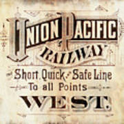 Union Pacific Railroad - Gateway To The West  1883 Art Print