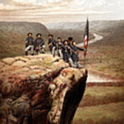 Union Soldiers On Lookout Mountain Art Print