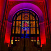 Union Station Decked Out For The Holidays Art Print