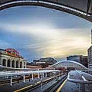 Union Station Denver - Slow Sunset Art Print