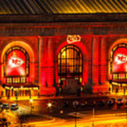 Union Station In Chiefs Red Art Print