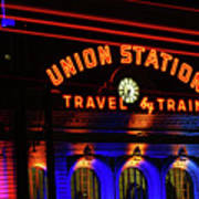 Union Station Lights Art Print