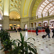 Union Station Main Hall And Waiting Room Art Print