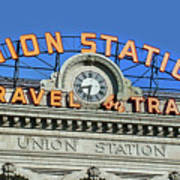 Union Station Sign Art Print
