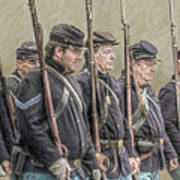 Union Veteran Soldiers Parade  Art Print