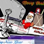 Unique Greets Original Holiday Greeting Card  Art Print