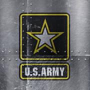 United States Army Logo On Steel Art Print