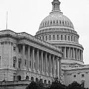 United States Capitol Building 4 Bw Art Print