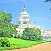 United States Capitol - Washington Dc Art Print
