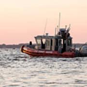 United States Coast Guard Heading Out Art Print