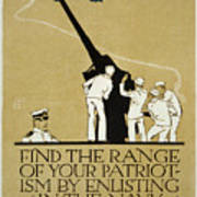 United States Navy Recruitment Poster From 1918 Art Print