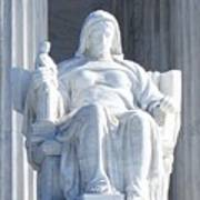 United States Supreme Court, The Contemplation Of Justice Statue, Washington, Dc 2 Art Print
