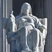 United States Supreme Court, The Contemplation Of Justice Statue, Washington, Dc 3 Art Print