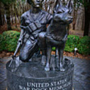 United States War Dog Memorial Art Print