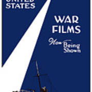 United States War Films Now Being Shown Art Print by War Is Hell Store