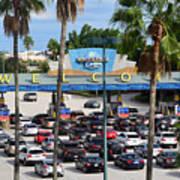 Universal Florida Parking Entrance Art Print