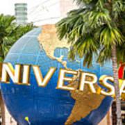Universal Studio Globe Art Print
