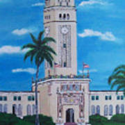 University Of Puerto Rico Tower Art Print