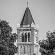 University Of Southern California Clock Tower Art Print by University Icons