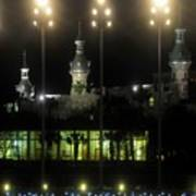 University Of Tampa Lights Art Print
