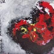 Unread Poem Black And Red Paintings Art Print