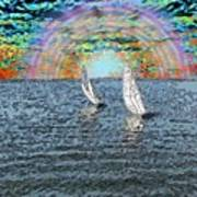 Unto The Sunset We Sail My Love Art Print