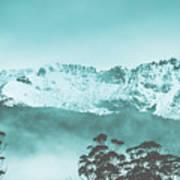 Untouched Winter Peaks Art Print