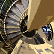 Up The Spiral Staircase Art Print