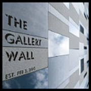 Up The Wall-the Gallery Wall Logo Art Print
