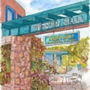 Sedona Up Town Mall In Sedona, California Art Print