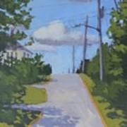 Uphill - Art By Bill Tomsa Art Print