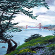 Upon Seeing The Golden Gate Art Print