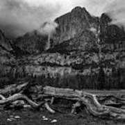 Upper And Lower Yosemite Falls Art Print