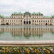 Upper Belvedere And Its Reflection  Art Print