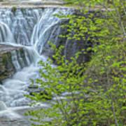 Upper Falls At Mine Kill State Park Art Print
