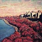 Upper Manhattan Along The Hudson River Art Print