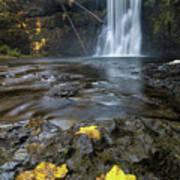 Upper North Falls In Autumn Art Print
