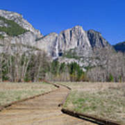 Upper Yosemite Fall And The Trail Art Print